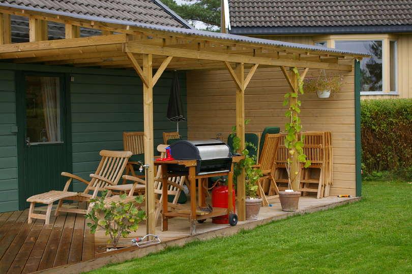 Hvordan bygge tak over verandaen